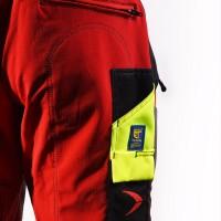 Pfanner Gladiator® Extrem Keprotec Schnittschutzhose rot-schwarz Gr. M