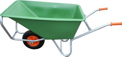 """FOXWINKEL Großmulden-Schubkarren mit Kunststoffmulde, """"Green Garden"""" 170 L, 2 aufgeschäumte PU-Räder"""